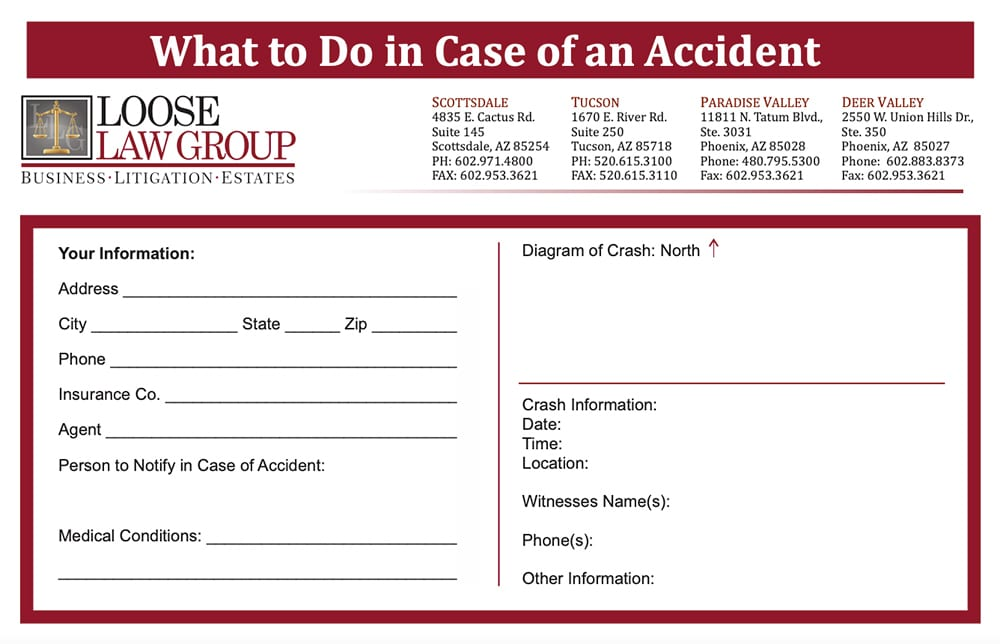 accident card